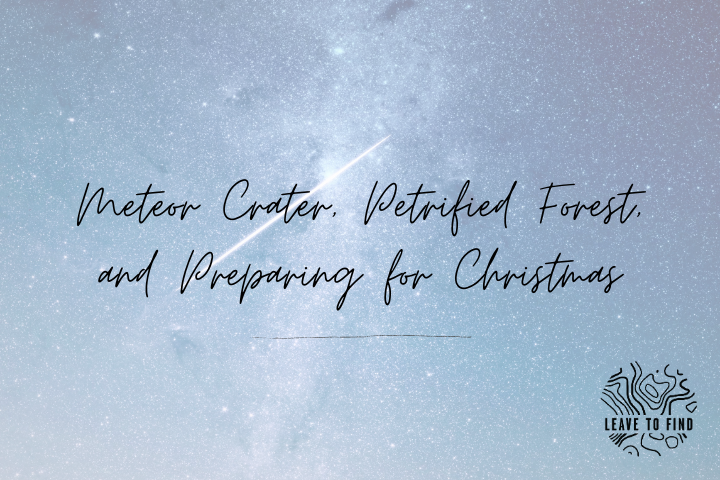 Meteor Crater, Petrified Forest, and Preparing for Christmas