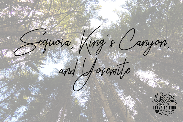 Sequoia, King's Canyon, and Yosemite